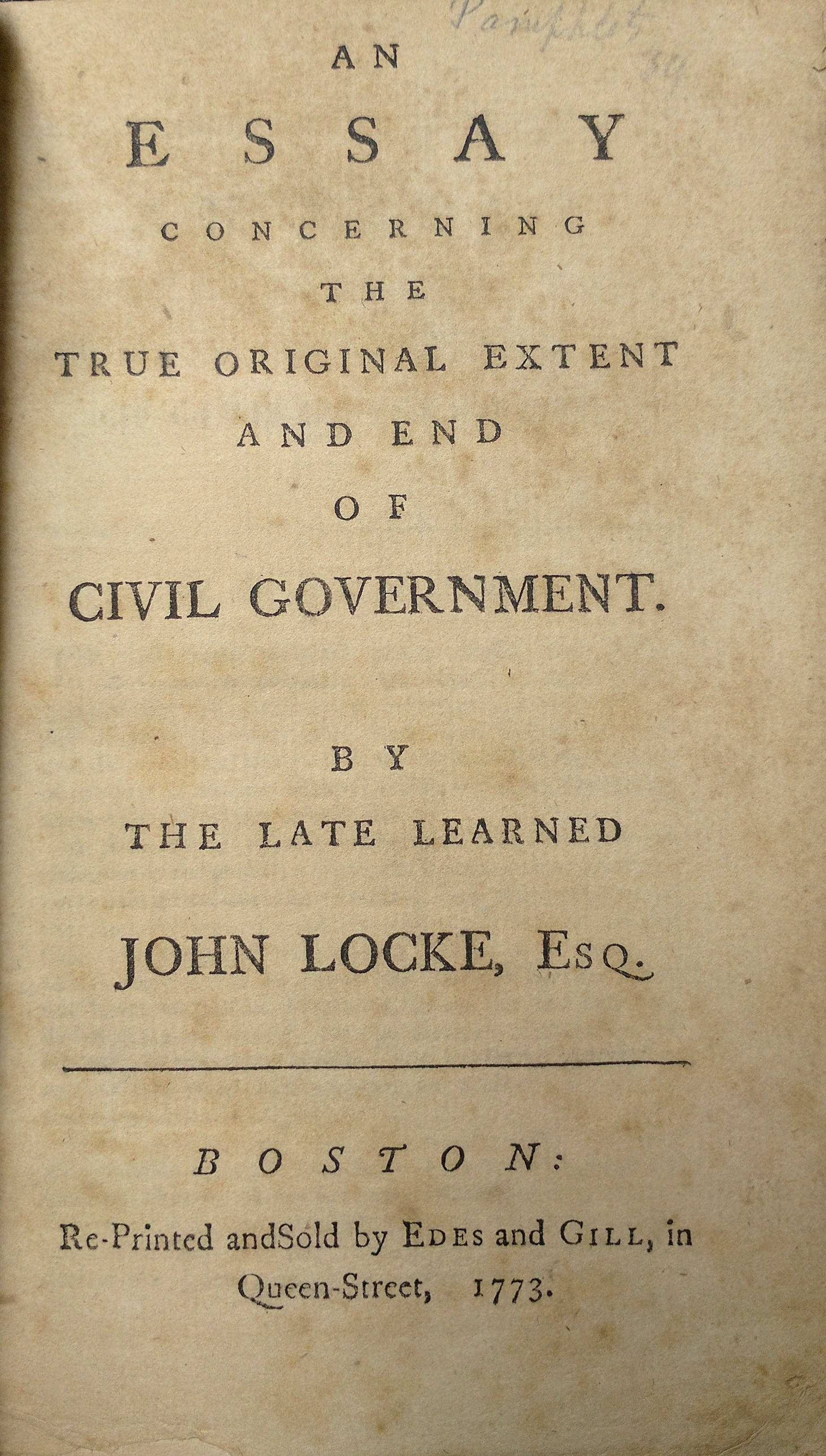 Locke Civil Government